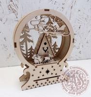 Новогоднее украшение для стола «Домик санты»
