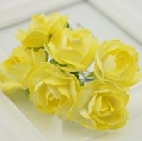 Бумажные цветы Желтые розы