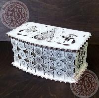 Шкатулка новогодняя «Снежная» для конфет