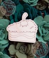 Заготовка «Кусочек торта» значок