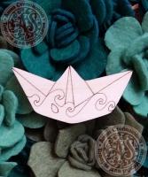 Заготовка «Бумажный кораблик» значок