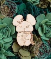 Заготовка «Мышь в шарфике» значок