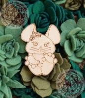 Заготовка «Мышка-принцесса» значок
