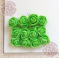 Букетик роз из фоама с сеточкой Зеленые