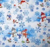 Бумага упаковочная «Снеговики»
