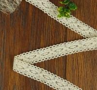 Кружево вязанное, узкое №8 кремовое