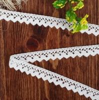 Кружево вязанное, узкое №2 белое
