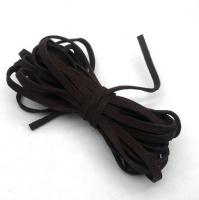 Шнур из искусственной замши плоский, черный