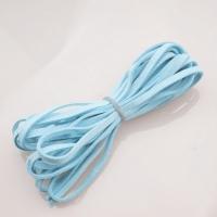 Шнур из искусственной замши плоский, голубой