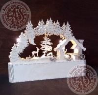 Новогодняя композиция из дерева Кузница
