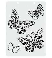 Трафарет многоразовый Бабочки