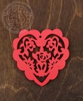 Подвеска цветная «Сердце с розами»