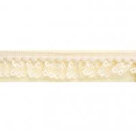 Кружево-рюш с помпонами, цвет 349