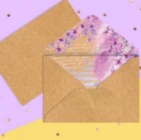Конверт Сиреневые цветы