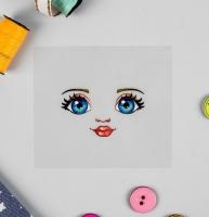 Термонаклейка, голубые глазки. Кукла Настя
