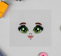 Термонаклейка, зеленые глазки. Кукла Вероника