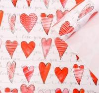 Бумага упаковочная «Акварельная любовь»