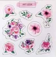 Чипборд для скрапбукинга Акварельные цветы