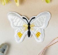Термоаппликация, нашивка Бабочка белая