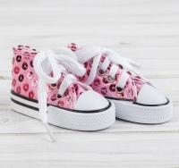 Кеды для куклы нежно-розовые
