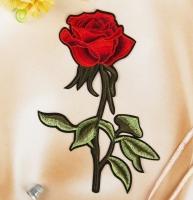 Термоаппликация, нашивка Большая роза