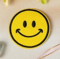 Термоаппликация, нашивка Смайл улыбающийся