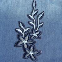 Термоаппликация, нашивка Синие цветы