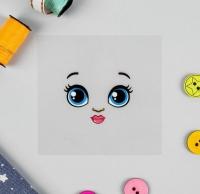 Термонаклейка, зеленые глазки. Кукла Рита