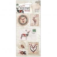 3d наклейки «Festive Fauna»