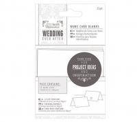 Набор заготовок для именных табличек на свадьбу «Белое сердце»