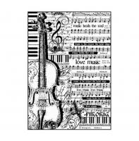 Бумага рисовая Ноты и виолончель