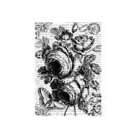 Бумага рисовая Розы в черно-белом