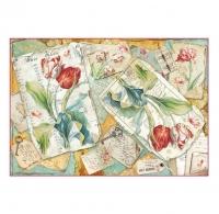 Бумага рисовая для декупажа Тюльпаны