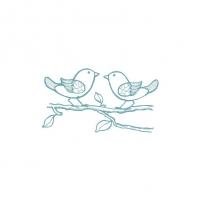 Термоаппликация войлоком Птички на ветке