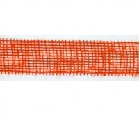 Лента из джута оранжевая, сетка