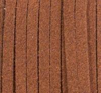 Шнур из искусственной замши (велюр) рыже-коричневый