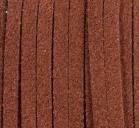 Шнур из искусственной замши (велюр) коричневый