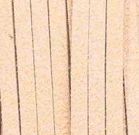 Шнур из искусственной замши (велюр) бежевый