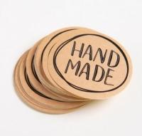 Набор круглых наклеек Hand made