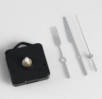 Набор: часовой механизм, стрелки столовые приборы