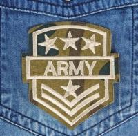Термоаппликация, нашивка Army