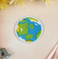 Термоаппликация, нашивка Планета Земля