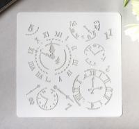 Трафарет «Циферблаты, время»