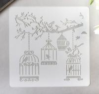 Трафарет «Клетки с птицами»