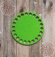 Фетровое донышко для корзинок «Круг» салатовый