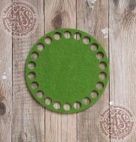 Фетровое донышко для корзинок «Круг» оливковый