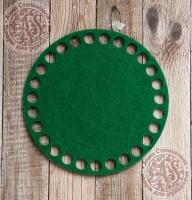 Фетровое донышко для корзинок «Круг» зеленый