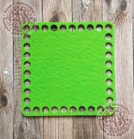 Фетровое донышко для корзинок «Квадрат» салатовый