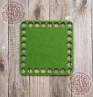 Фетровое донышко для корзинок «Квадрат» оливковый