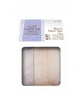 Набор лент клеевах тканевых с рисунком French Lavender